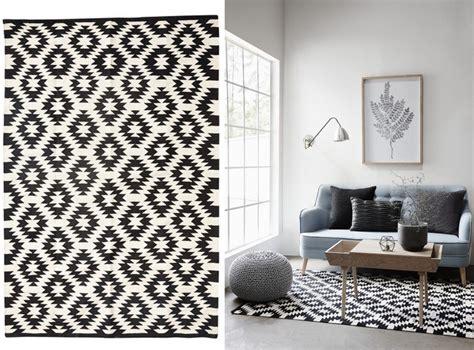ou trouver  tapis noir  blanc home inspiration