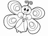 Butterfly Fairy Coloring Pages Printable Animals Realistic Farm Animal Categories sketch template