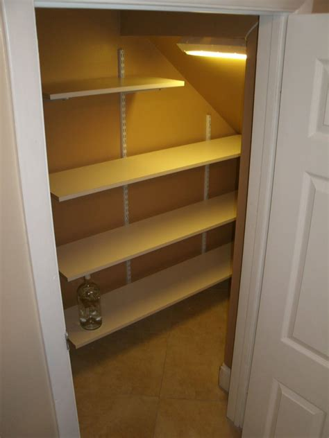 Understairs Cupboard Storage by New Shelving In A Small Nook Stairs Stair