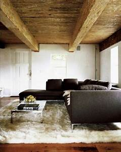 dazzling living rooms with white flokati rug rilane With beautiful living room rug minimalist ideas