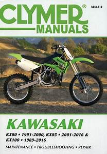 Kawasaki Kx80  Kx85  Kx100 Repair Manual 1989