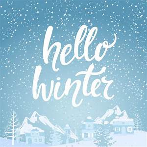 Hello winter banner. Vector | Premium Download