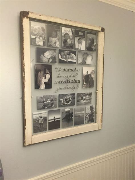 Decorating Ideas Using Window Frames by Single Pane Window Frame Turned Into A Collage Photo