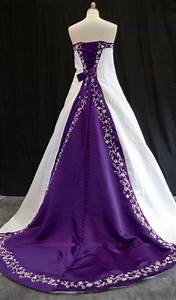The dream wedding inspirations stylish purple wedding dress for Wedding dresses purple