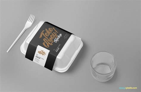 3d realistic vector mock up. Free Disposable Food Packaging Mockup | ZippyPixels