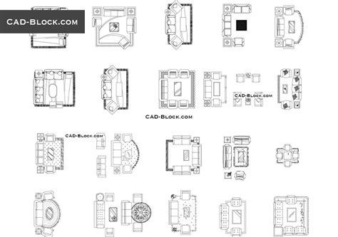 living room cad blocks