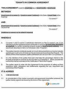 agreement between tenants in common joint ownership With tenants in common agreement template