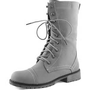 womens boots grey 39 s combat cowboy mid calf lace up ankle combat boots shoes grey ebay