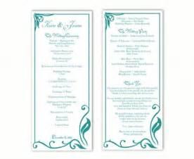 Wedding Program Templates Word