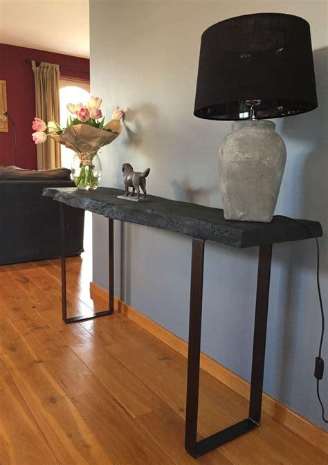 pieds console ou meuble bar design acier
