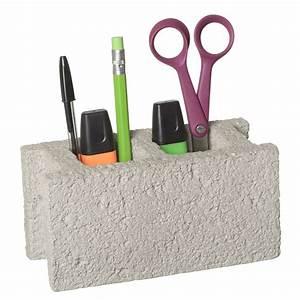Pot A Crayon : pot crayons parpaing une id e de cadeau original amikado ~ Teatrodelosmanantiales.com Idées de Décoration