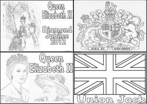 Queen Elizabeth Diamond Jubilee Coloring Pages