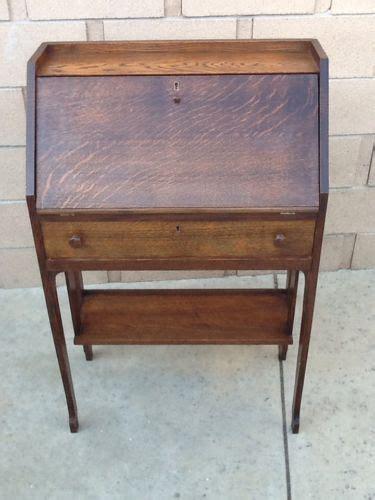 antique quarter sawn oak drop front secretary writing desk