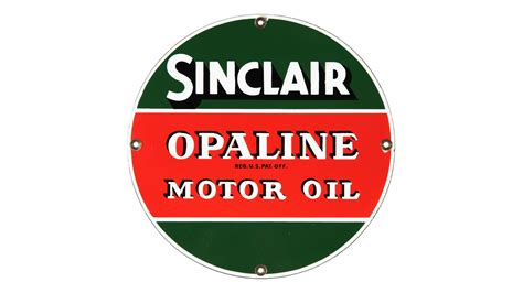 Sinclair Opaline Motor Oil Sign Ssp 16 Inches
