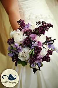 Bouquet Bridal: Lavender and White Bouquets