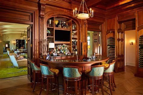 turquoise bar stools Home Bar Traditional with bar area