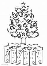 Coloring Tree Christmas Pages Printable Cool2bkids sketch template