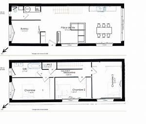 plan maison etroite ventana blog With plan maison en longueur