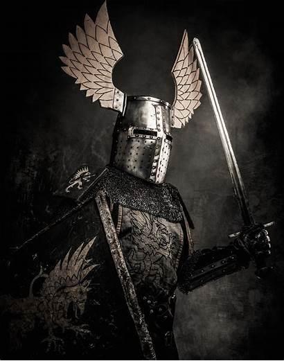 Knight Knights Templar Winged Sword Medieval Shield