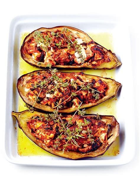 aubergines farcies  la feta hachette pratique