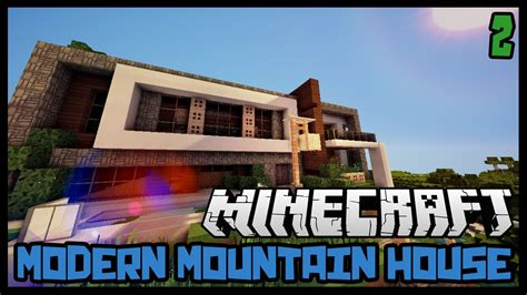 Minecraft Modern Mountain House Youtube Joss Picture Cam