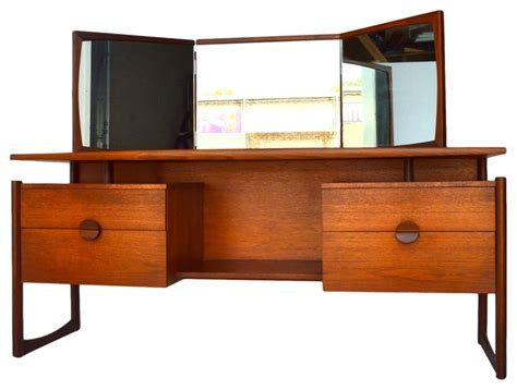 mid century bedroom vanity mid century teak vanity by g plan model quadrille