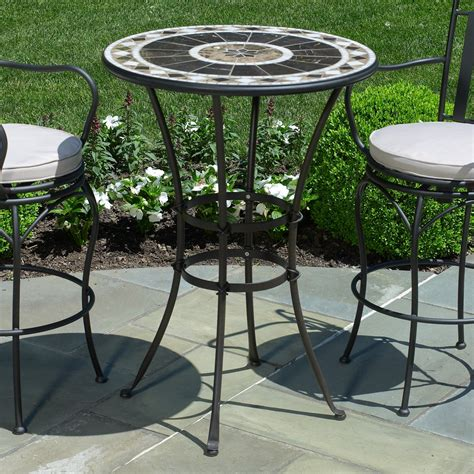 pub height patio table small elegant peerless round table and stools bar height