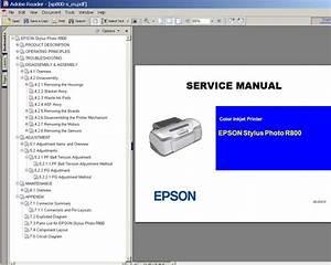 Epson R800 Printer Service Manual  Exploded Diagram