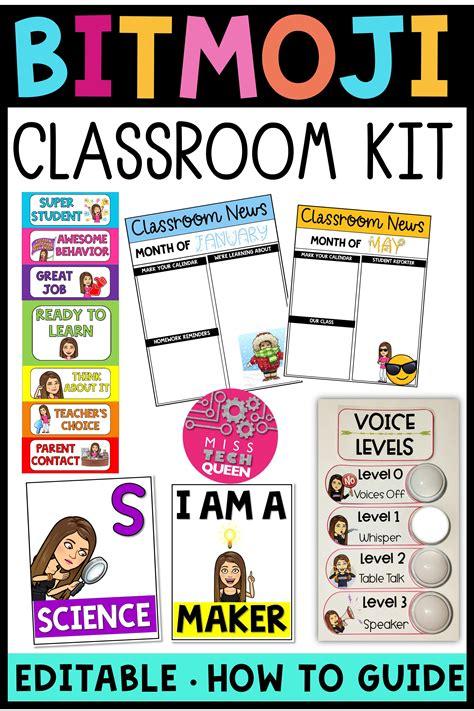 bitmoji classroom bundle  images classroom jobs