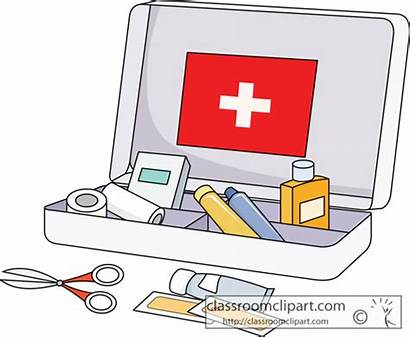 Aid Kit Clip Clipart Safety Medical Kits