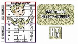 Csdp- The Classes Of Supply