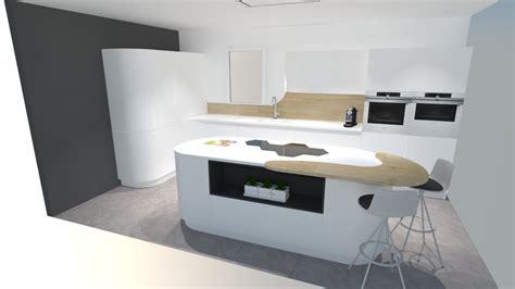cuisine blanche avec ilot central une cuisine futuriste blanche 224 d 233 couvrir absolument
