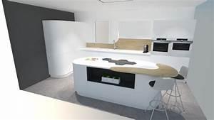 Prix D Une Cuisine équipée : une cuisine futuriste blanche d couvrir absolument ~ Dailycaller-alerts.com Idées de Décoration