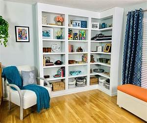 Build, Your, Own, Hardwood, Built-in, Bookcases, 8, Steps, With, Pictures