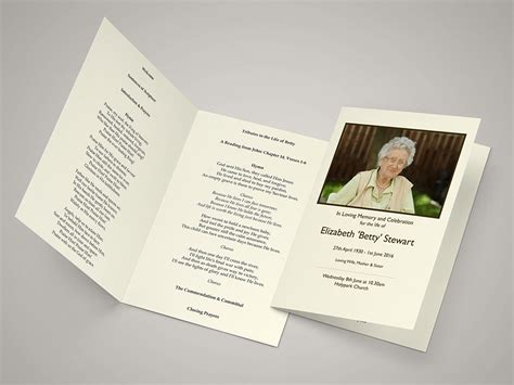 funeral service sheet template funeral order of service templates funeral hymn sheets