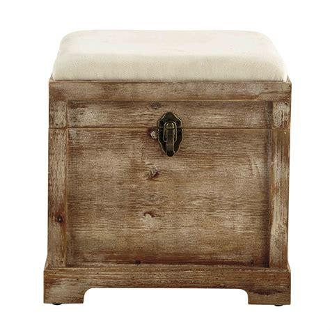 coffre banc en bois l 39 cm cascabelle maisons du monde