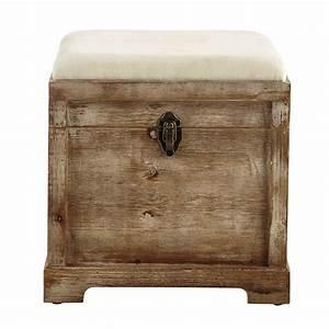Banc Coffre Bois : coffre banc en bois l 39 cm cascabelle maisons du monde ~ Teatrodelosmanantiales.com Idées de Décoration