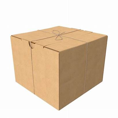 Package Box Cardboard Clipart Twine Transparent Psd
