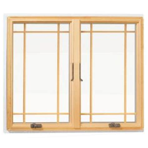 andersen       series casement wood window  white exterior  prairie grilles