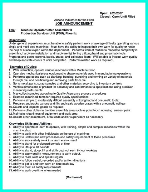 Machinist Sle Resume by Writing Your Qualifications In Cnc Machinist Resume A Must