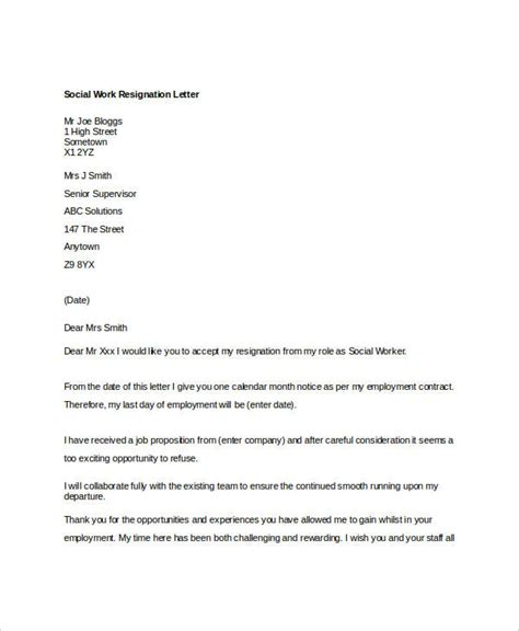 work resignation letter  word  documents