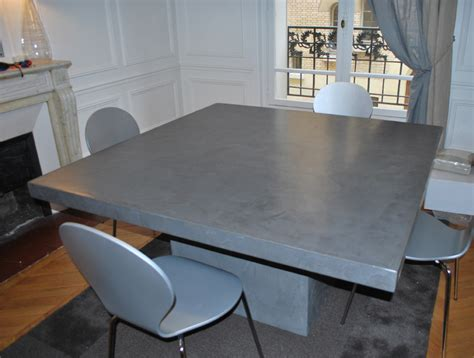 table de salon en beton cire table de salon en b 233 ton cir 233 sur mesure les design tables en b 233 ton cir 233
