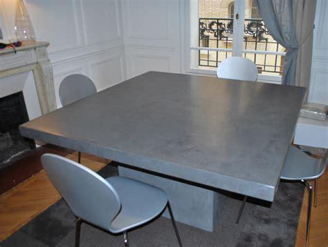cuisine pas chere les design tables en béton ciré