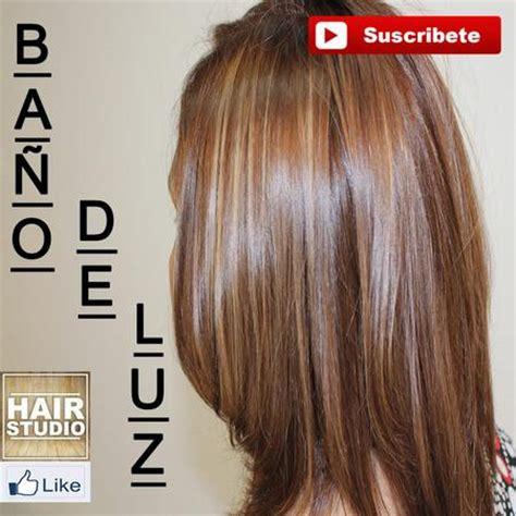como hacer  bano de luz en el cabello escuela hair studio
