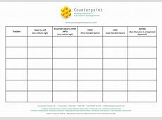 Negotiation Preparation Template Counterpoint