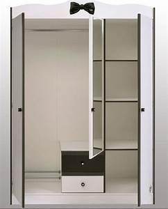 Armoire Pour Chambre : armoire blanche 3 portes miss secret de chambre ~ Teatrodelosmanantiales.com Idées de Décoration