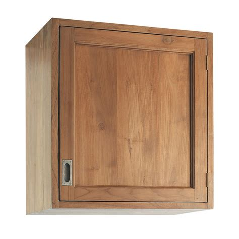 meuble cuisine teck meuble haut de cuisine ouverture gauche en teck massif l 60 cm amsterdam maisons du monde