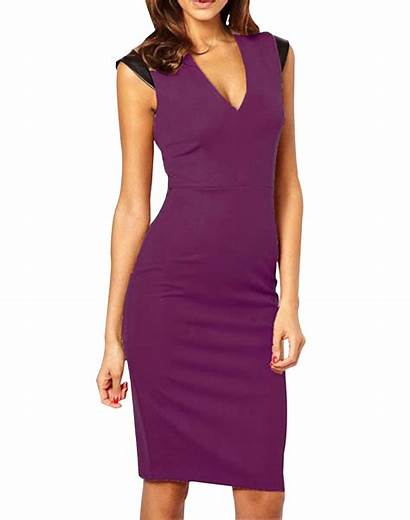 Neck Purple Bodycon Kettymore Sleeveless Womens Zumeet