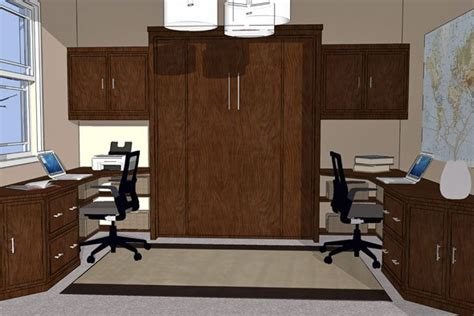 creating  perfect home office   murphy wall bed