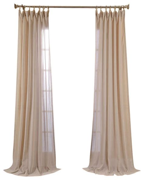 tumbleweed faux linen sheer curtain single panel